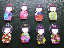 5 x Large 3cm Japanese Doll Buttons Ideal for Sewing, Crochet, Knitting Crafts