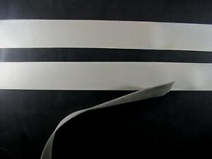 Latex Rubber Trim Strips 0.50mm, 7mm x200cm, Metallic Silver