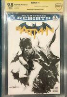 JAE LEE ORIGINAL Sketch Art CBCS 9.8 BATMAN #1 Signed not CGC DK III