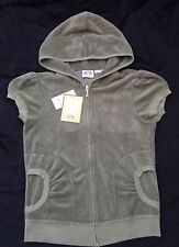 NWT Juicy Couture New Genuine Ladies Medium Green Cotton Towelling Hoody UK10/12