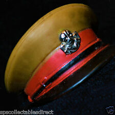 ☆ VAM Palitoy Action Man ☆ British Officer's Peak/ Cap Hat 1966-84 1/6th Scale ☆