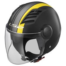Ls2 Casco Moto Of562 Airflow Metropolis Matt M Black Yellow Long