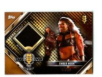 WWE Ember Moon 2019 Topps RTWM Bronze Event Used NXT Mat Relic Card SN 46 of 99