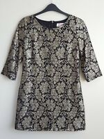 LOUCHE GOLD LACE  LOLA DRESS SIZE 12