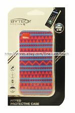 BYTECH Fitted Protective Phone Case PURPLE AZTEC For iPHONE 4/4S Slim Fit 3/4