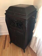1918 EDISON PATHE Silvertone Floor Model Cabinet Phonograph