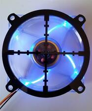 Custom 80mm SNIPER CROSSHAIR Computer Fan Grill Gloss Black Acrylic Cooling Mod