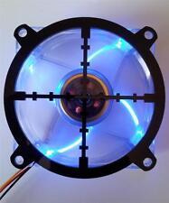 Custom 80mm SNIPER CROSSHAIR Computer Fan Grill Gloss Black Acrylic Cooling Mod