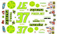 #37 Kevin Lepage Patron Tequila 1/24th - 1/25th Scale Waterslide Decals
