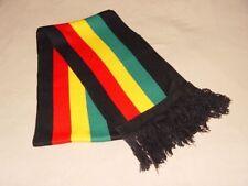ETHIOPIA JAMAICA RASTA GREEN,YELLOW, RED,BLACK SELASSIE REGGAE SCARF-NEW