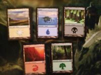 100 Basic Land Lot - 20 of each - All Black Border - Magic the Gathering MTG FTG