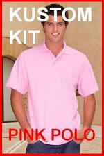 Mens Pink 100% cotton polo shirt Kustom Kit NEW All Size available, IDEAL GIFT