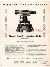 OTTICA GALILEO FIRENZE LIVELLO REVERSIBILE O.G. modello IGM  -  VOLANTINO