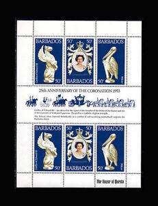 Barbados, Sc #474, MNH, 1978, S/S, Royalty, Silver Wedding, FRI-A