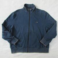 MINI Cooper Blue Logo Zip up Sweatshirt Men's XL