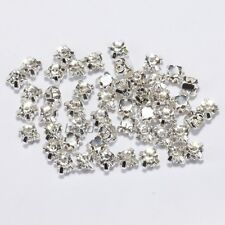 200pcs Rhinestone Beads Crystal Gemstone Clear Spacer For Jewelry Making 4mm HOT