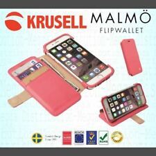 Krusell Malmo iPhone 6/6s/7/7s/8 Leather Flip Wallet Book Case +Card Holder PINK