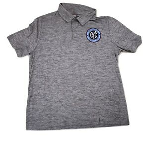 MLS Mens NYCFC New York City FC Football Club Polo Shirt New L