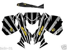 RACING SKI-DOO REV XM SUMMIT SNOWMOBILE SLED GRAPHIC KIT WRAP BLACK 2013 2015
