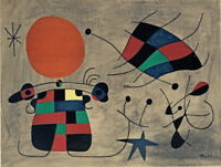 Joan Miro Smile with flaming wings Giclee Canvas Print Paintings Poster