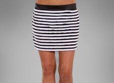Free One Size 10/12 Black and White Elastic Waist Stretch Mini-Skirt BNWT