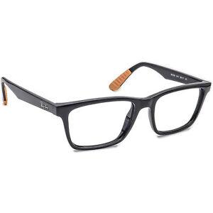 Ray-Ban Men's Eyeglasses RB 7025 5417 Black Rectangular Frame 55[]17 145