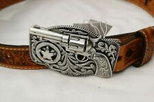 Nwt Justin Kids Western Brown Embossed Leather Belt Size 22