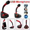 USB Microphone Audio Recording LED Mic Studio Gaming PC Desktop Computer Laptop