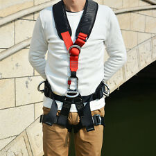 Rock Tree Climbing Full Body Harness Fall Protection Fire Rescue Rappelling Gear