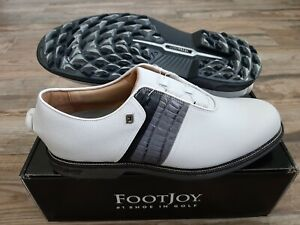 NEW 2021 FootJoy Dryjoys Premiere Boa Mens Golf Shoes 11.5W  WH/BLK/GREY 53921