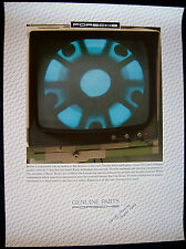 PORSCHE X-RAY PARTS TESTING MONITOR OFFICIAL PARTS DEPARTMENT DEALER POSTER 1986