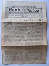 "1916 ""Three C's Bank Notes"" 1st Bank CHERRYVILLE NC Journal Paper Newsletter"