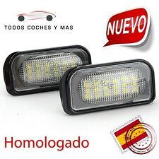 PLAFONES LED MATRICULA MERCEDES W203 C CLASS HOMOLAGADOS E11 LUCES LED MATRICULA