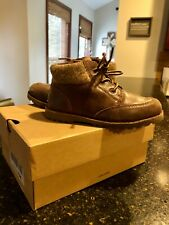 boys size 11 ugg boot brown with Side zipper great condition