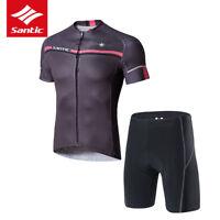 Santic Summer Cycling Set Suit Short Sleeve Jersey T-shirt & 4D Padded Shorts