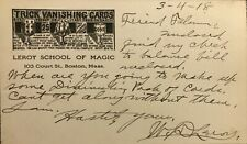 1918 Magic Postcard, Signed, W.D. Leroy To Arthur Felsman, Chicago Magic Dealer