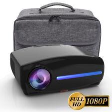 Full HD LED Beamer 1920x1080P LCD Heimkino Video Projektor 1080p mit Tasche NEU