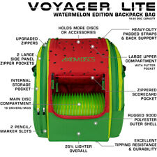 Axiom Disc Golf Backpack Bag - Voyager Lite Watermelon Edition - Holds 22 Discs