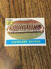 1958 Topps Cleveland Browns Team Card #9 near mint & Unmarked ~ Jim Brown RC