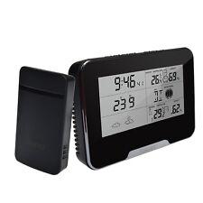 WiFi HD 1080P Weather Station Covert Clock Camera Live Remote View Nanny Camera