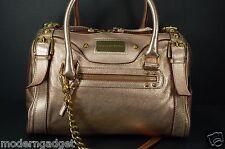 SUPER BEAUTIFUL !!! DOLCE&GABBANA Capra Metallic ROSE GOLD  SHOULDER/HAND BAG