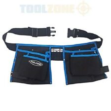 Toolzone 13 Pocket Nylon Double Tool Pouch Storage Belt DIY Buckle