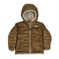The North Face Girls Toddler 2T Reversible Mossbud Swirl Hooded Jacket