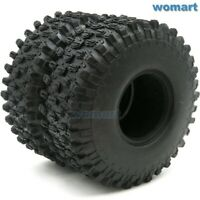 2pcs RC 1.9 Super Swamper Tires 120mm Fit 1:10 Rock Crawler 1.9'' Beadlock Rims