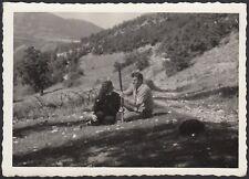 YZ2135 Foligno - Verchiano - Località Cifo - Fotografia d'epoca - 1954 old photo