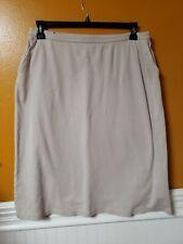 Land's End Skirt Large 14 16 Khaki Jersey Soft