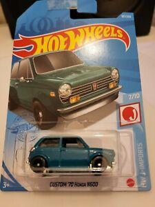 Hot Wheels 2021 Custom '70 Honda N600 *187/250 HW J-Imports *7/10 GTB82 Blue