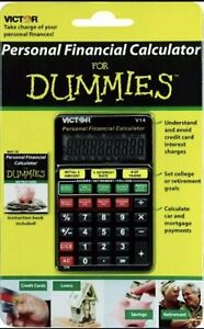Victor V14 Personal Financial Calculator for Dummies Black