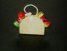 Vintage Barbie Suburban Shopper Basket Of Fruit - Mint Condition