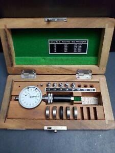 "Diatest Small Bore Gage Set 0.039"" 0.062"" & Rings Machinist Split Gauge Dial"